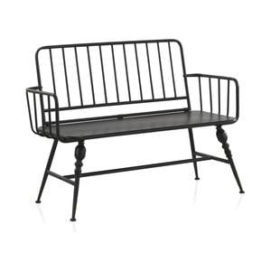 Czarna ławka metalowa Geese