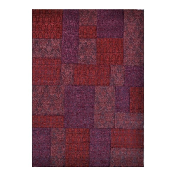 Dywan Patchwork 9 Red, 62x124 cm