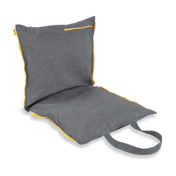 Przenośne siedzisko + torba Hhooboz 100x50 cm, szare