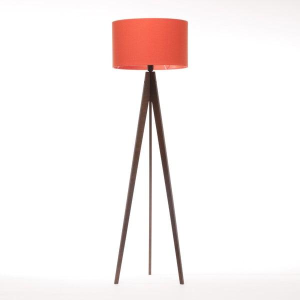 Lampa stojąca Artist Red Felt/Dark Brown, 125x42 cm
