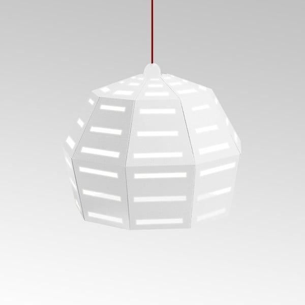 Kartonowa lampa Uno Fantasia D White, z czerwonym kablem