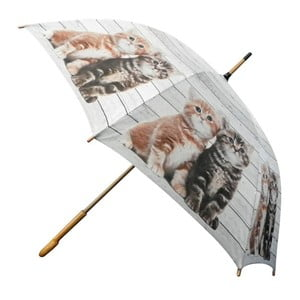 Parasol Scaffold Wood Kittens Red