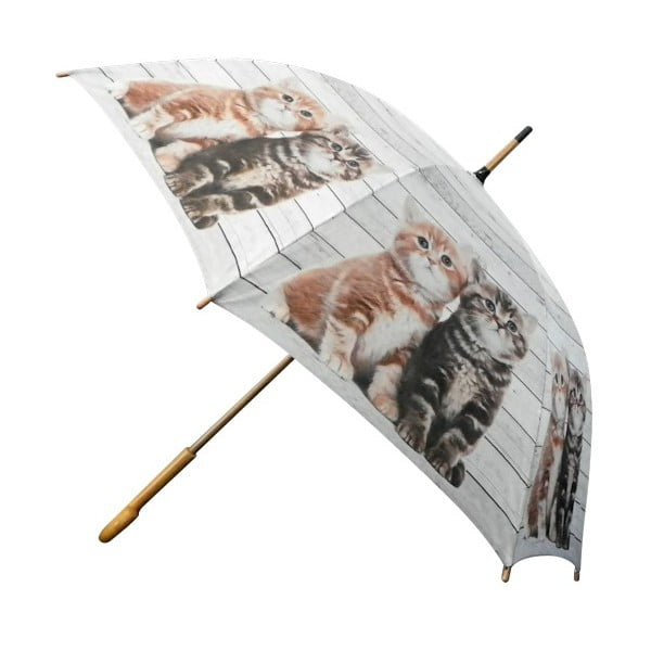Parasol Scaffold Wood Kittens Red