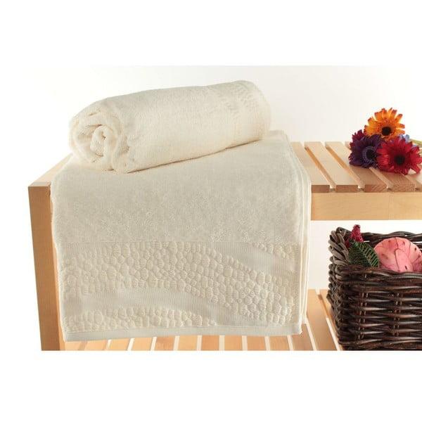 Zestaw 2 ręczników Balon Ecru, 90x150 cm