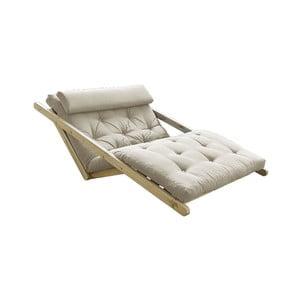 Sofa rozkładana z beżowym pokryciem Karup Design Figo Natural/Beige