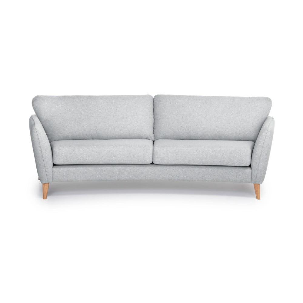 Jasnoszara sofa 3-osobowa Scandic Paris