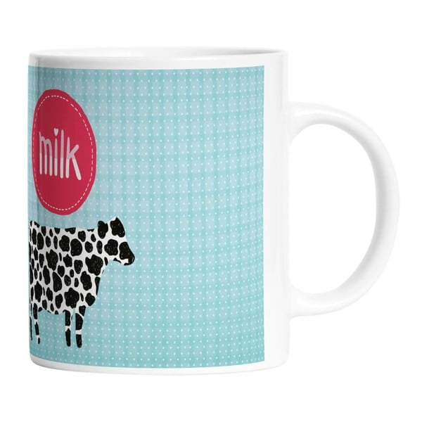 Ceramiczny kubek I Love Milk, 330 ml