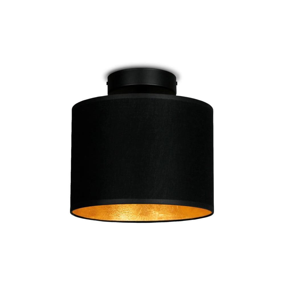 Czarna lampa sufitowa z złotym detalem Sotto Luce MIKA Elementar XS CP
