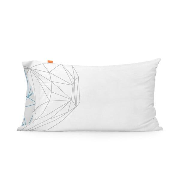 Zestaw 2 bawełnianych poszewek na poduszki Blanc Heart, 50x80cm