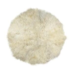 Biały dywan futrzany Rundo, ⌀ 150cm