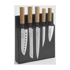 Komplet 5 noży z magnetycznym stojakiem Jean Dubost Kyoto