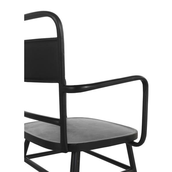 Czarny metalowy fotel Geese Industrial Style Derro