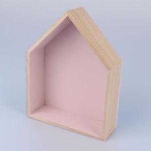 Półka wisząca Domek 18x21 cm, różowa