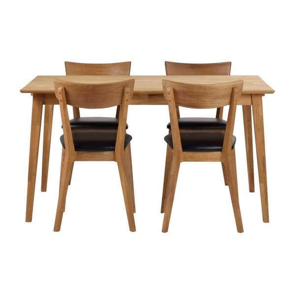 Stół z drewna dębowego Folke Mimi, długość 140cm