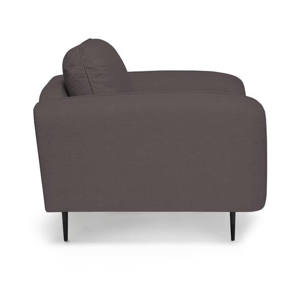Antracytowy fotel Vivonita Skolm