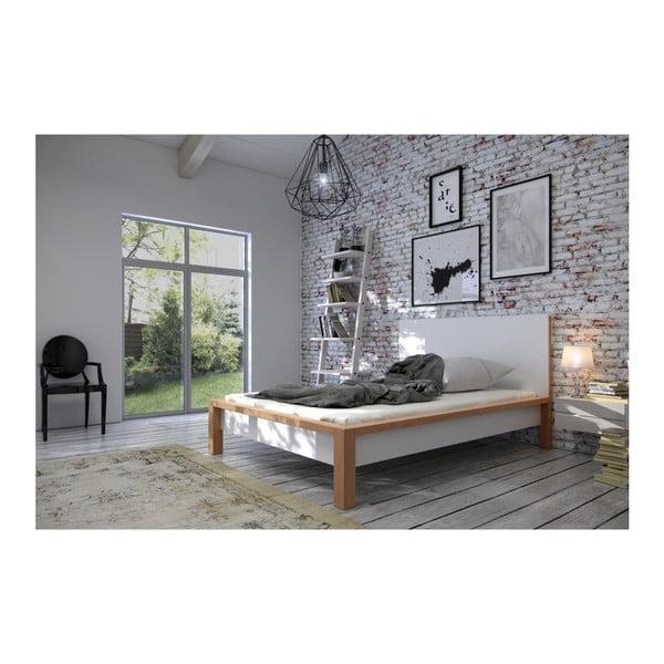 Łóżko 2-osobowe z drewna sosnowego SKANDICA InBig, 180x200 cm