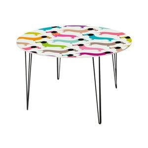 Stół do jadalni Daschshunds In Colours, 120 cm
