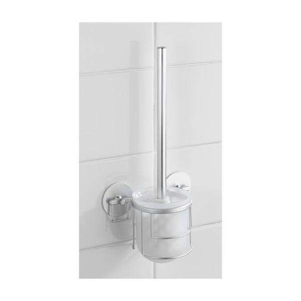 Samoprzyczepny stojak ze szczotką do WC Wenko Aluminium, do 40 kg