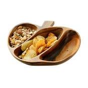Półmisek do serwowania przekąsek z drewna akacjowego Premier Housewares Socorro Apple