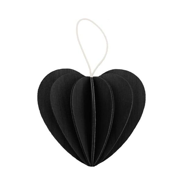 Składana pocztówka Heart Black, 4.5 cm