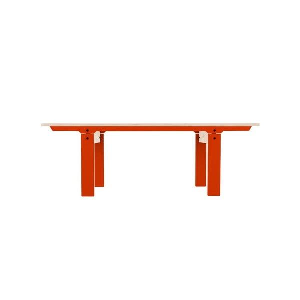 Pomarańczowa ławka rform Slim 04, dł. 133 cm