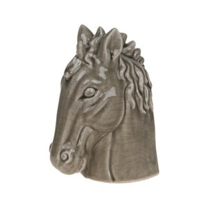 Dekoracja Dijk Natural Collections Horse Head Olive, 19,5 cm