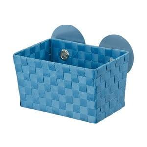 Ciemnoturkusowy koszyk z przyssawkami Wenko Fermo