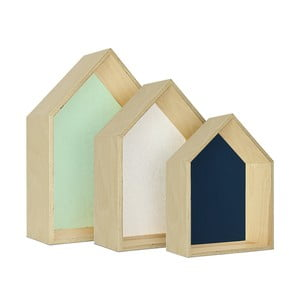 Zestaw 3 półek HF Living Hut – zielona, biała, niebieska