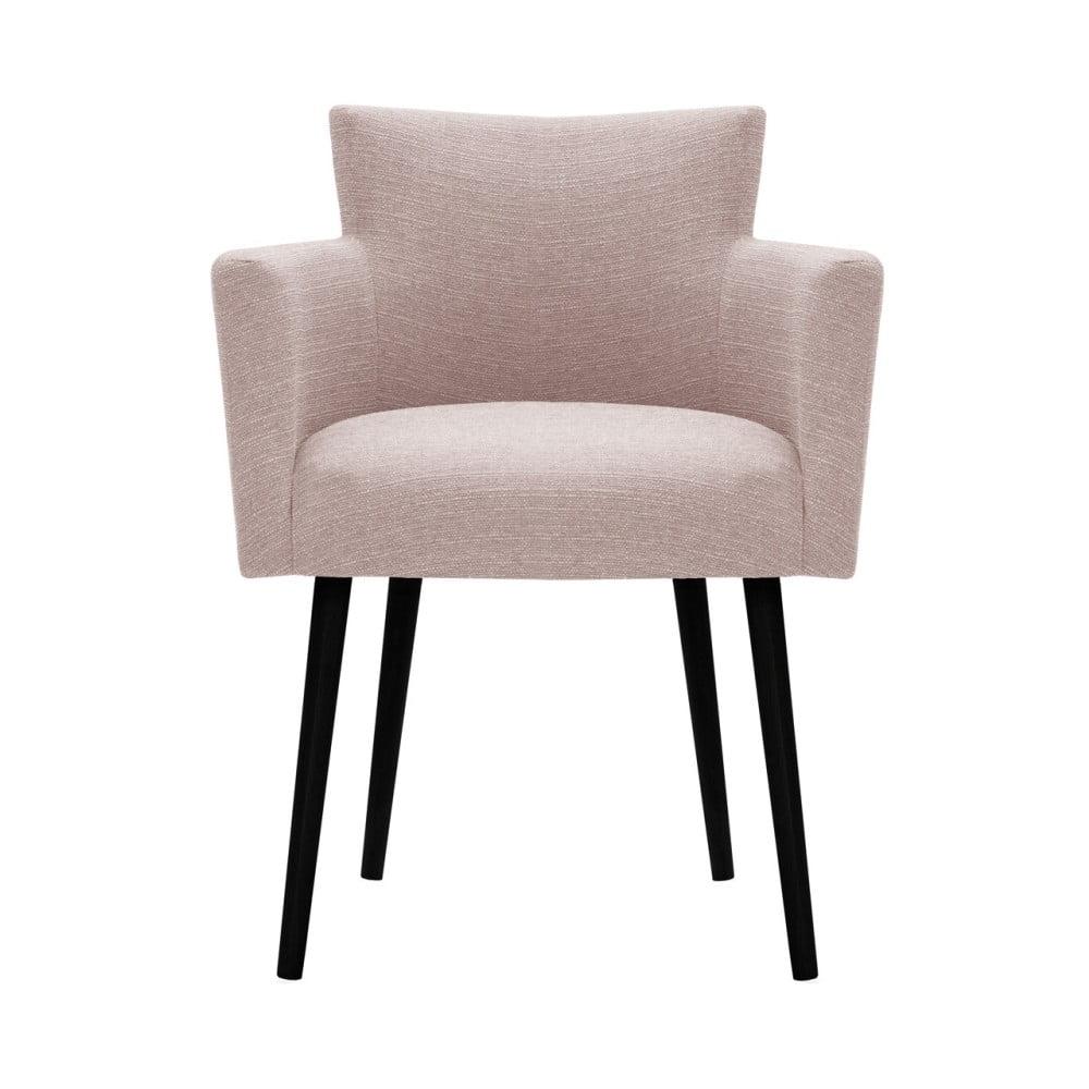 Jasnoróżowe krzesło Prêt à Meubler Classics Billie