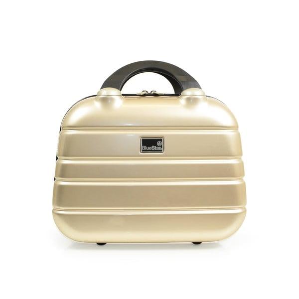 Beżowa walizka i torba podręczna Blue Star Manhattan