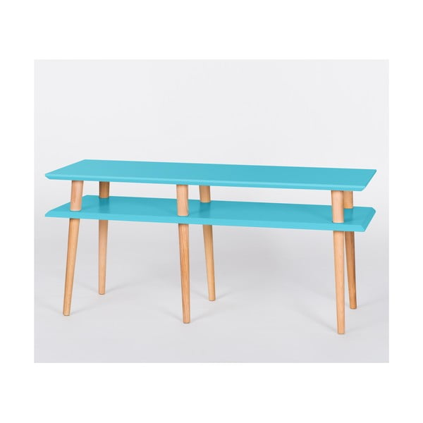 Ciemnoturkusowy stolik Ragaba Mugo, dł. 119 cm