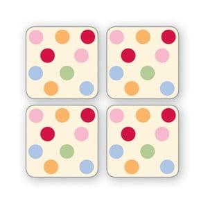 Zestaw 4 kolorowych podkładek Cooksmart England Spots