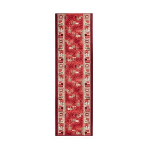 Dywan Basic Retro, 80x200 cm, czerwony