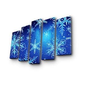 Obraz pięcioczęściowy Christmas no. 5, 105x70 cm