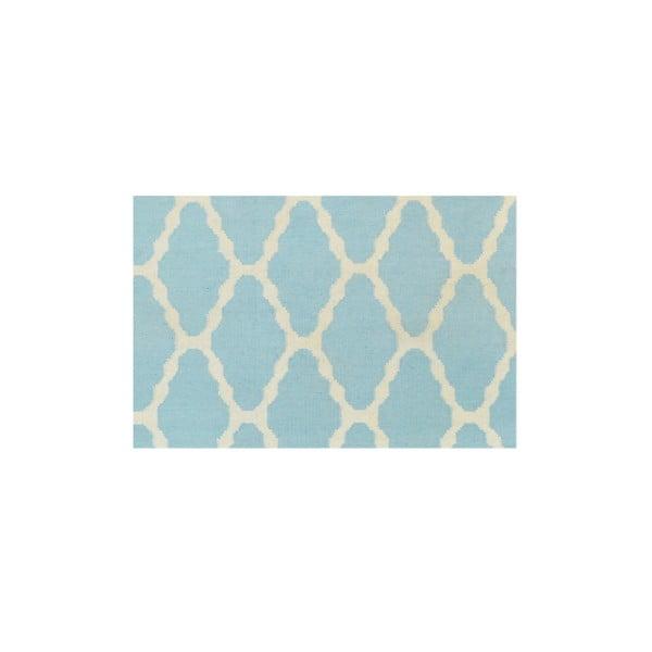 Ręcznie tkany dywan Kilim Venus Light Blue, 155x240 cm