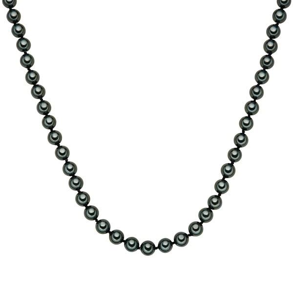 Perłowy naszyjnik Muschel, zielone perły 8 mm, długość 90 cm