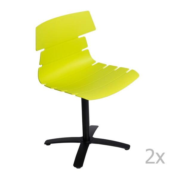 Zestaw 2 zielonych krzeseł D2 Techno One