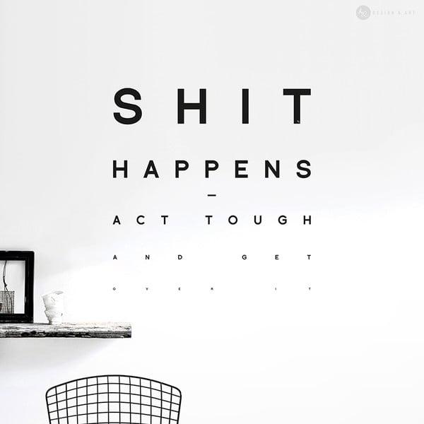 Naklejka Shit Happens