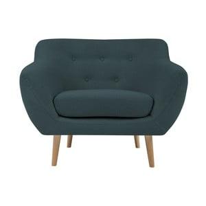 Jasnoniebieski fotel z jasnymi nogami Mazzini Sofas Sicile