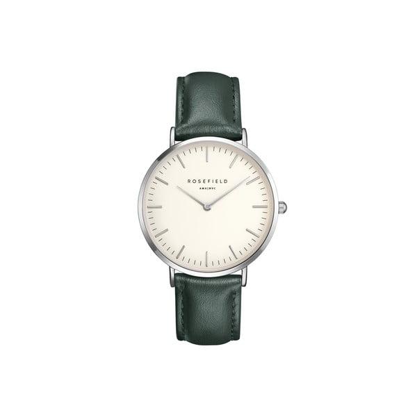 Zegarek damski Rosefield - The Bowery, biały/zielony/srebrny