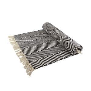 Bawełniany dywan Iluzja optyczna, czarno-biały