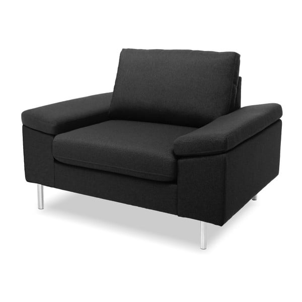 Antracytowy fotel Vivonita Nathan