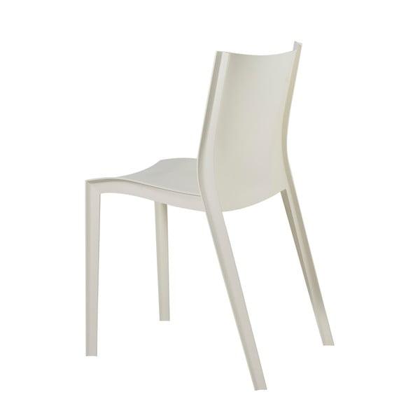 Komplet 2 krzeseł Slick Slick, kość słoniowa