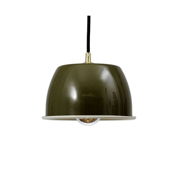Lampa sufitowa Emailleleuchte 05 Olive/Black