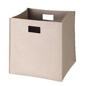 Filcowe pudełko 36x35 cm, beżowe