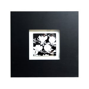 Obraz na drewnie Black and White Flower, 35x35 cm