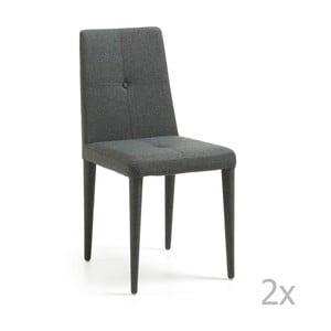 Zestaw 2 ciemnoszarych krzeseł La Forma Chic