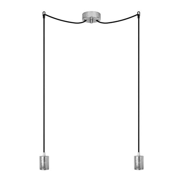 Lampa wisząca podwójna Cero, srebrny/czarny/srebrny