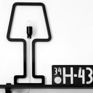 Lampa ścienna Colored Shape Black