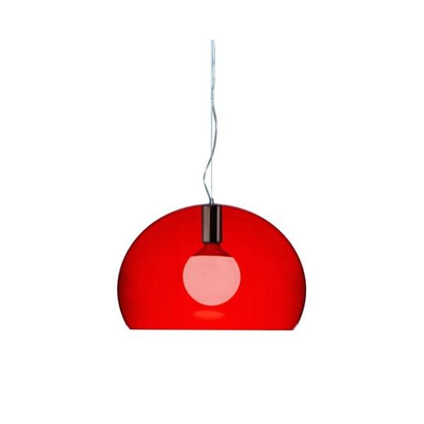 Mała czerwona lampa wisząca Kartell Fly